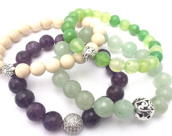 Summer Garden Gemstone Stack