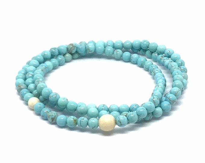 Wrap Turquoise Beaded Bracelet