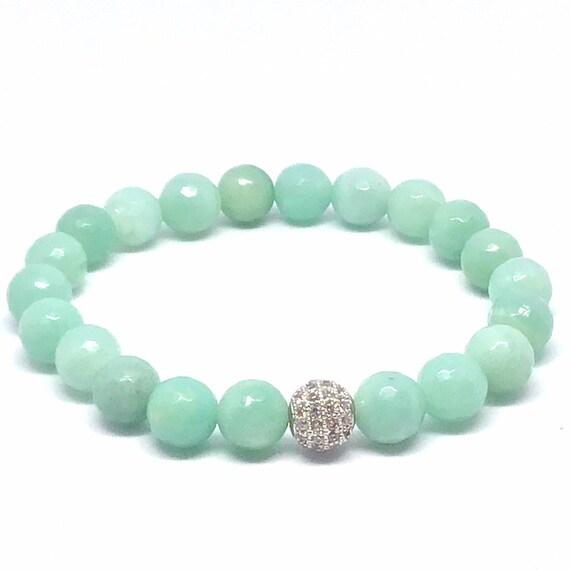 Amazonite Gemstone Bracelet- Helps communicate ones thoughts