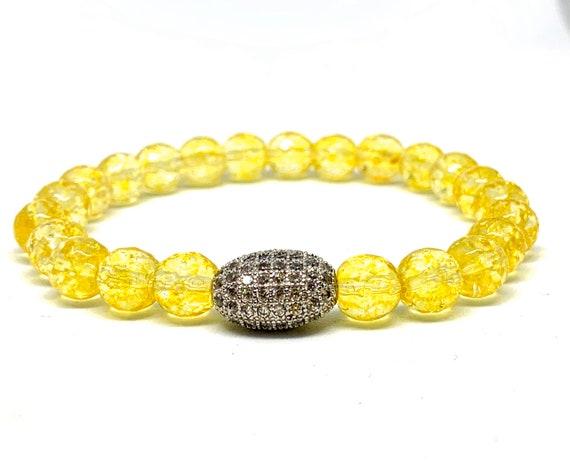 Citrine Gemstone Bracelets ans Stack