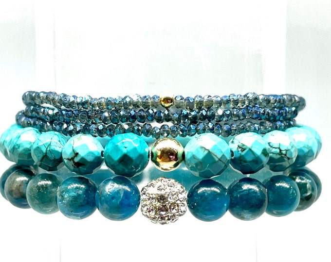 Apatite and Turquoise ~ Balancing and Strenght!