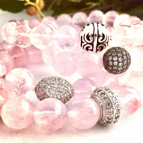 Faceted Rose Quartz Gemstone Bracelet-The Love Stone