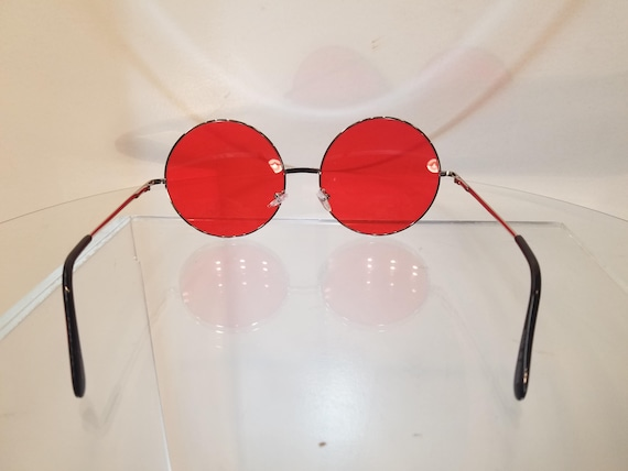 7faf2e8b999 Sunglasses Round Red Eye-ware XXL Large Sunnies