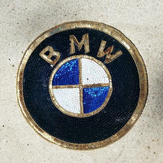 Patches 90s Sequins patches Vintage Car Logo Patch