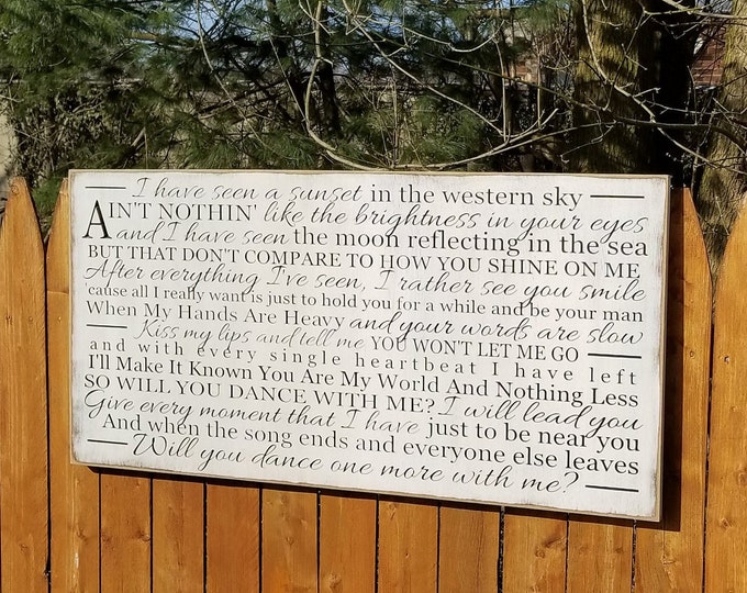 """Custom Carved Wooden Sign - """"I Have Seen A Sunset In The Western Sky,"""" - 24x48 - Phillip Phillips """"DANCE WITH ME"""" song lyrics"""