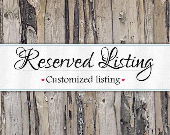 Reserved Listing - Grandkids sign size upgrade - 10x40 (5 columns)