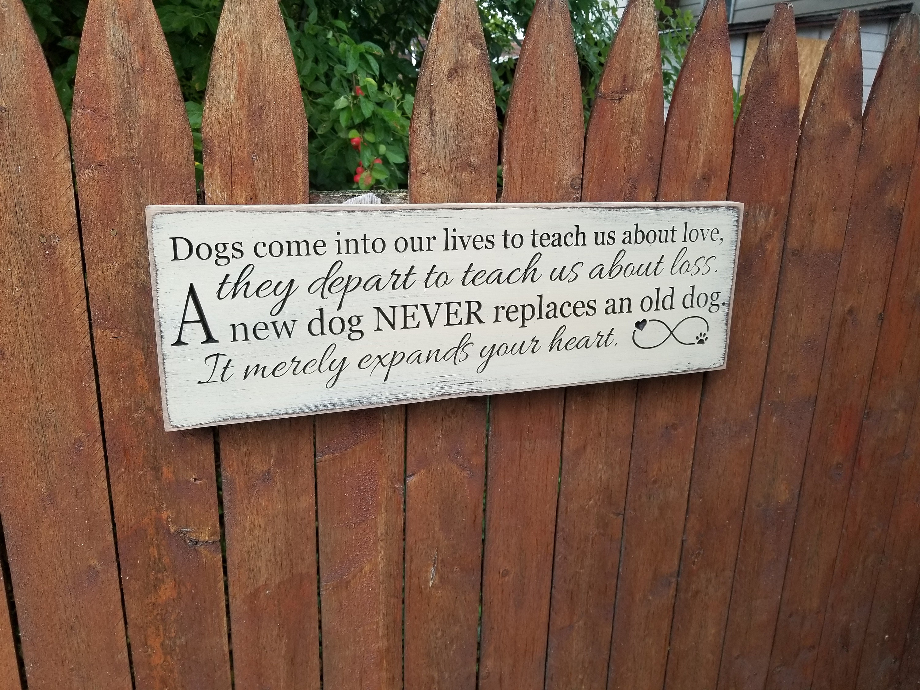 Custom Carved Wooden Sign Dogs Come Into Our Lives To Teach Us
