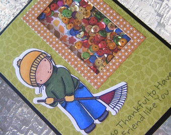 Thanksgiving Card, Thankful for You, Shaker Card, Thanksgiving Shaker Card, Fall Card, Autumn Card, Thanks, MFT,
