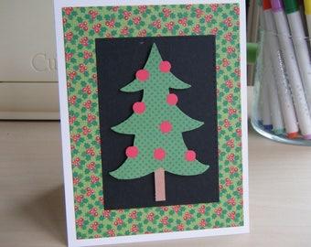 Christmas Tree Card, Christmas Card, Tree Card, Blank Christmas Card, Blank Holiday Card, Simple Christmas Card