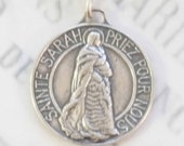 Medal - Sainte Sarah & Saintes Maries 23mm - Sterling Silver