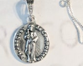 Necklace - St James of Compostela 16mm - Sterling Silver + 18 Inch Italian Sterling Silver Chain