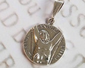 Medal - St Andrew the Apostle 18mm - Sterling Silver