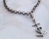 Bracelet - Man's Camargue Cross Chain Bracelet - Sterling Silver - 14x26mm