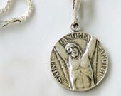 Necklace - St Andrew the Apostle 18mm - Sterling Silver
