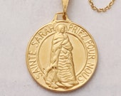 Necklace - Sainte Sarah & Saintes Maries 18K Gold Vermeil - 23mm + 18 inch Gold Vermeil Chain
