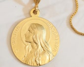 Necklace - Sta Maria Magdalena 25mm - 18K Gold Vermeil +  20 Inch 18K Gold Plated Box Chain