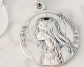 Necklace - Sta Maria Magdalena 29mm Sterling Silver + 18 Inch Sterling Silver Chain