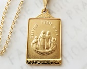 Necklace - Saintes-Maries PPN 19x30mm - 18K Gold Vermeil + 18 Inch Italian 22K Gold Vermeil Chain