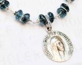 Bracelet - London Blue Topaz Sainte Marie Madeleine - Sterling Silver
