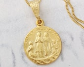 Necklace - Saintes Maries 15.5mm - 18K Gold Vermeil + 18 Inch Italian 18K Gold Vermeil Chain