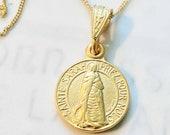 Necklace - Sainte Sarah & Saintes Maries 14mm - 18K Gold Vermeil + 18 inch 18K Gold Vermeil Chain