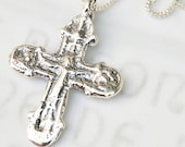 Necklace - Rare Crusader Crucifix 35x49mm - 18 inch Sterling Silver Box Chain