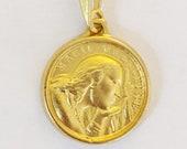 Medal - Saint Mary Magdalene 17.5mm - 18K Gold Vermeil