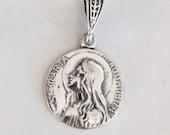 Medal - Sta Maria Magdalena 15mm - Sterling Silver