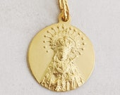 Medal - Our Lady of Sorrows SPAIN 20.5mm - 18K Gold Vermeil