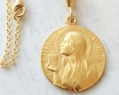 Necklace - Ste MAGD-PPN 25mm - 18K Gold Vermeil + 18 inch Italian 18K Gold Vermeil Chain
