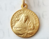 Medal - St John the Apostle 19mm - 18K Gold Vermeil