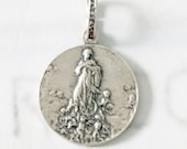 Medal - Mary Magdalene Carried by Angels - Sterling Silver 20mm