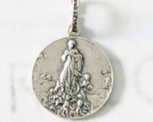Medal - Mary Magdalene Carried by Angels 20mm - Sterling Silver