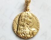 Medal - Sancta Maria Magdalena 18mm - 18K Gold Vermeil