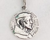 Medal - St Francis of Assisi 18.5mm - Sterling Silver