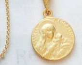 Necklace - Sancta Magdalena 18mm - 18K Gold Vermeil + 18K Gold Vermeil Chain