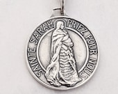 Medal - Sainte Sarah & Saintes Maries 23mm - Sterling Silver