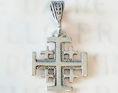 Cross - Jerusalem Cross 14mm - Sterling Silver