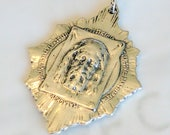 Medal - Holy Face Medallion 36x46mm - Sterling Silver