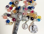 Rosary - Jerusalem Agate Crown of Thorns / Eucharist - Sterling Silver