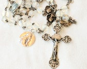 Rosary - French Vintage Crystal & Silver Rosary