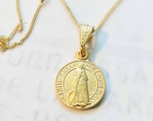Necklace - Sainte Sarah & Saintes Maries 14mm - 18K Gold Vermeil + 18 inch 18K Gold Vermeil Chain