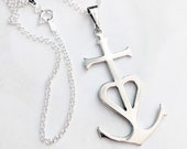 Necklace - Camargue Cross 25x46 - Sterling Silver + 18 Inch Italian Sterling Silver Chain