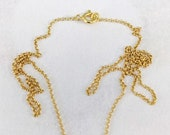 Necklace - 18 Inch Italian I8K Gold Vermeil Chain