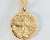 Medal - Holy Spirit 17.5mm - 18K Gold Vermeil
