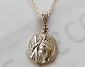 Necklace - St Andrew the Apostle - Sterling Silver 14.5mm