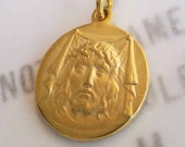 Medal - Holy Face of Jesus 20mm - 18K Gold Vermeil