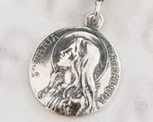 Necklace - Sta Maria Magdalena 24mm - Sterling Silver + 18 Inch Italian Sterling Silver Chain