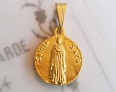 Medal - Sainte Sara & Saintes- Maries - 18K Gold Vermeil - 17mm
