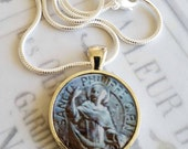 "St Philip Apostle Pendant with 18"" Sterling Silver Chain - 28mm"
